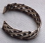 Woven sterling silver bracelet - 3/4 inches wide (23KB)