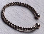 Woven sterling silver bracelet 1/4 inches wide (22KB)